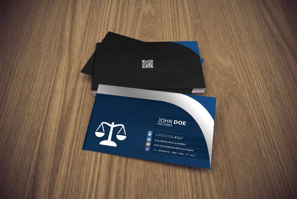 Sample business cards free premium templates professional legal business card reheart Gallery