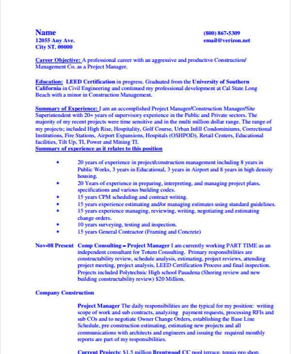 professional construction resume1