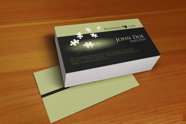 -Printable Legal Business Card