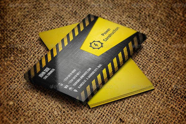 -Construction Company Business Card