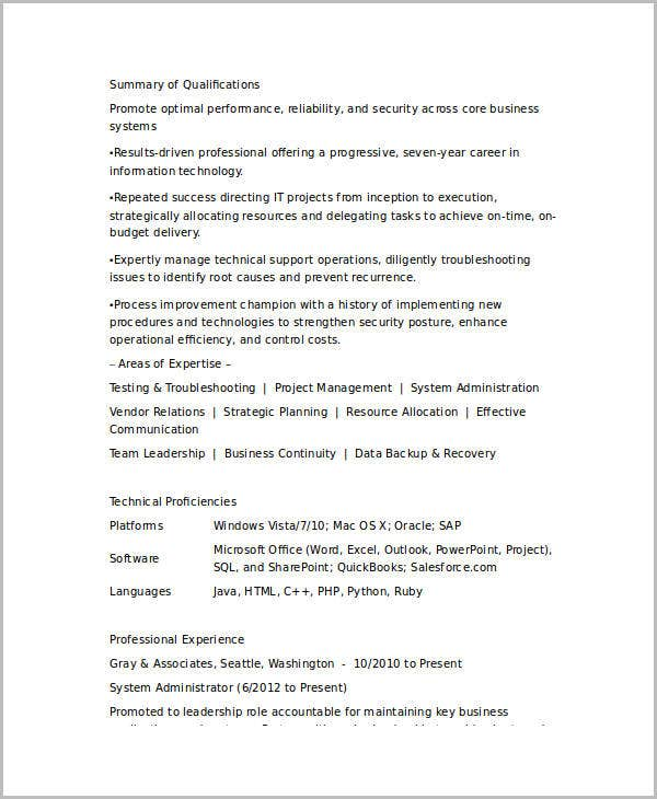 Resume Samples Find Different Career Resume Cv Examples Monstercom