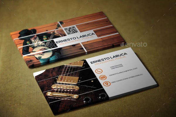-Music Artist Business Card