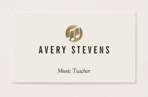 -Music Teacher Business Card