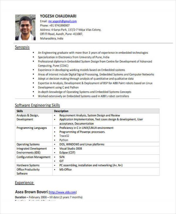 software engineering resume example4