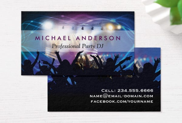 -Music Themed Business Card