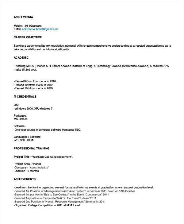 finance resume sample executive samples professional automotive manager templates