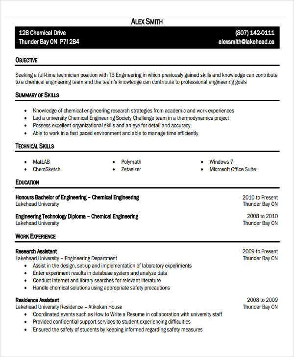 31 professional engineering resume templates free