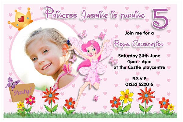 Fairy Party Invitation Card