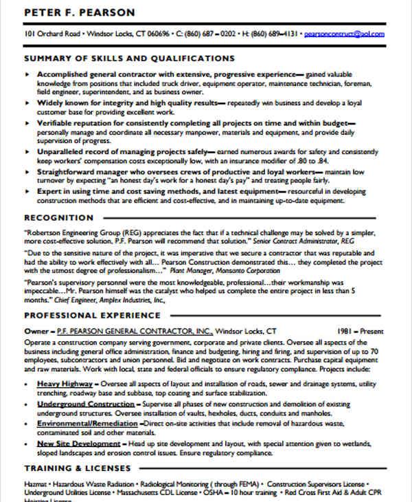 general contractor resume1
