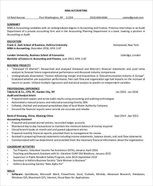 20+ Finance Resume Templates - PDF, DOC | Free & Premium Templates