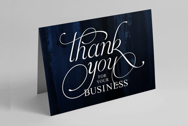 -Funny Thank You Business Card