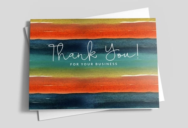 -Holiday Thank You Business Card