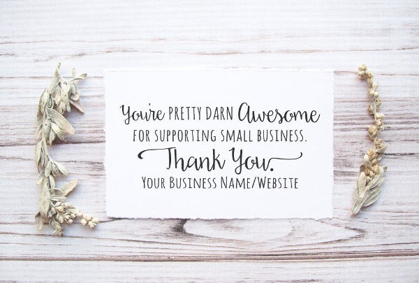-Business Anniversary Thank You Card