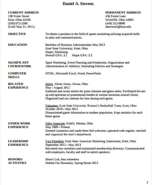 15  work resume templates