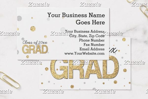 graduation party business card