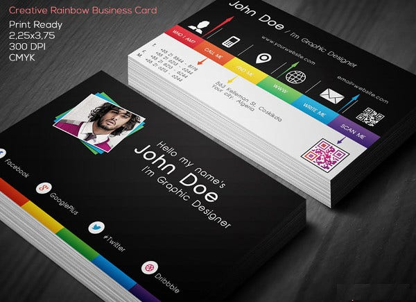 personal photo business card