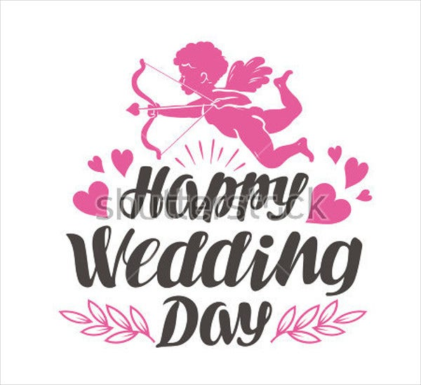 happy wedding day logo