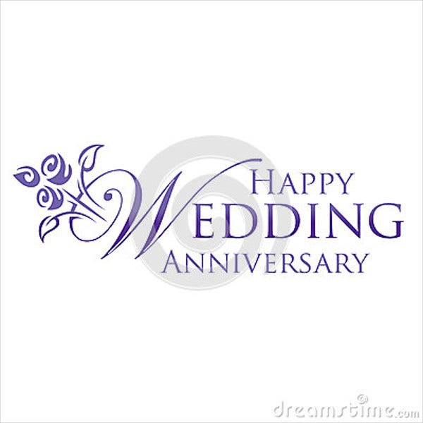 happy anniversary wedding logo