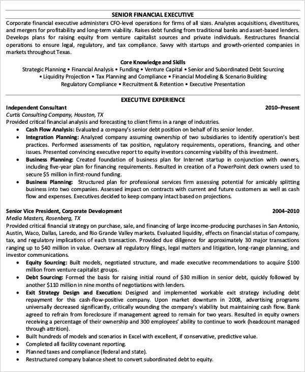 22 Best Finance Resume Templates PDF DOC Free Premium Templates