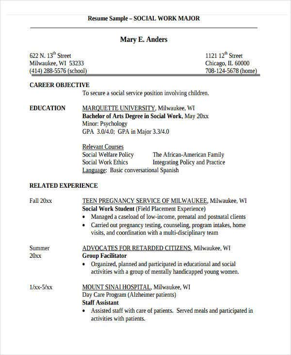 Simple Work Resume Templates  Pdf Doc  Free  Premium Templates