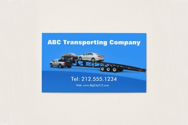 transporting company business card