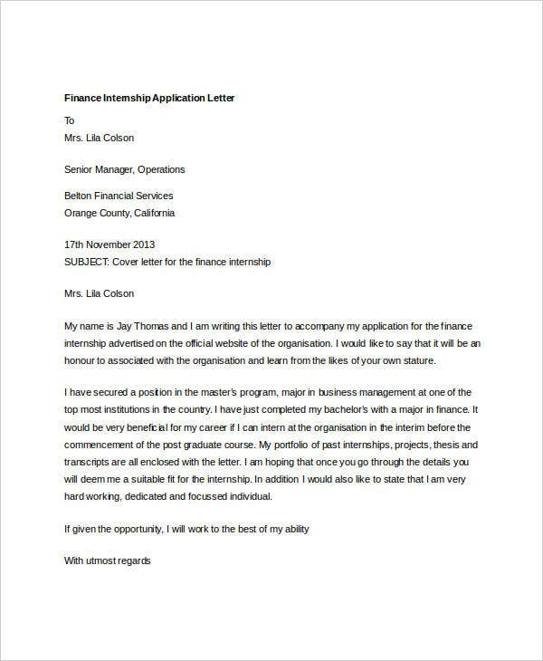 finance internship application letter4