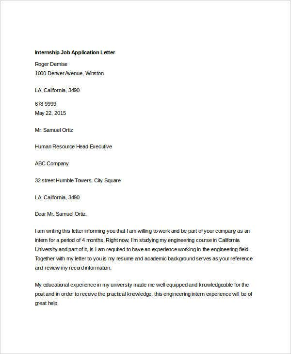 internship job application letter2