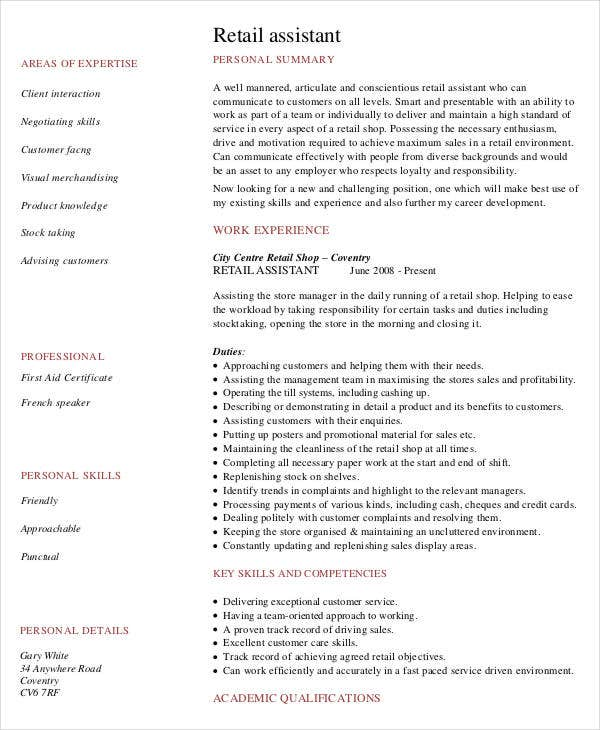 Executive Bw. Retail Work Resumes. Attractive Ideas Social Worker