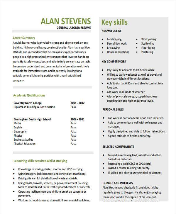 29 simple work resume templates free premium templates