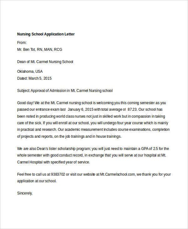 nursing school application letter7