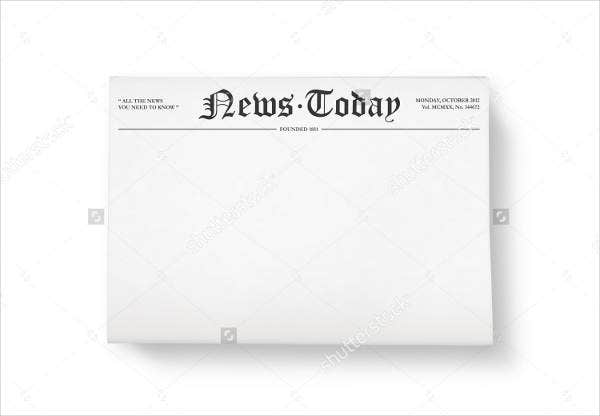 blank front page newspaper template2