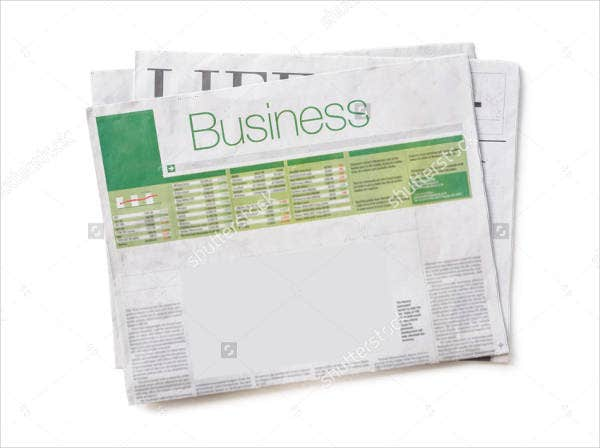 Editable Blank Newspaper Template