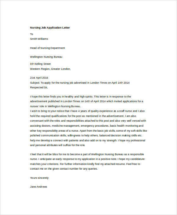 nursing job application letter3