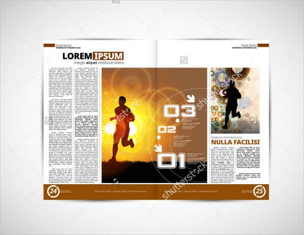 Sports Media Newspaper Template