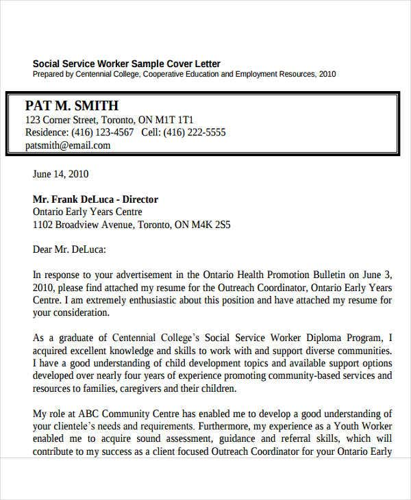 Youth Worker Cover Letter Child And Youth Worker Cover Letter