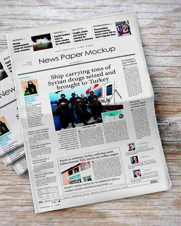 A4 Modern Newspaper Template