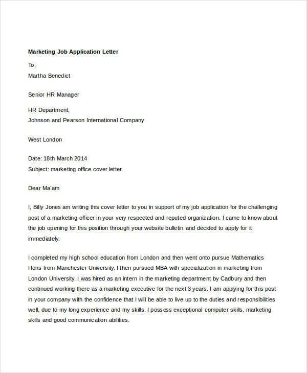 marketing job application letter2