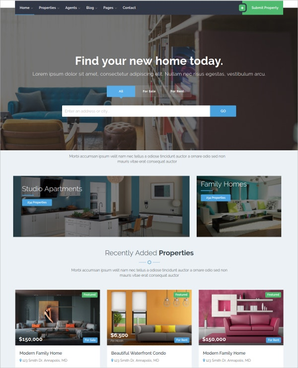 real-estate-css-template