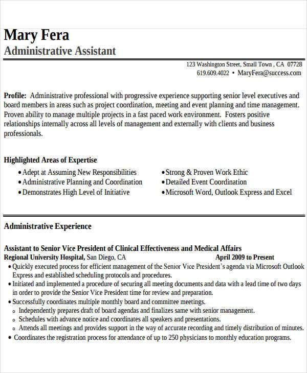 administrative-assistant-work-resume