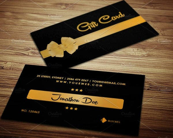 Personalized Business Gift Card