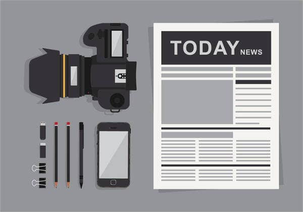newspaper reporter cover template