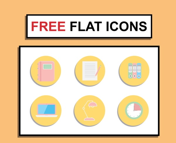 free-office-flat-icons