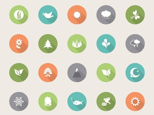 flat-nature-vector-icons