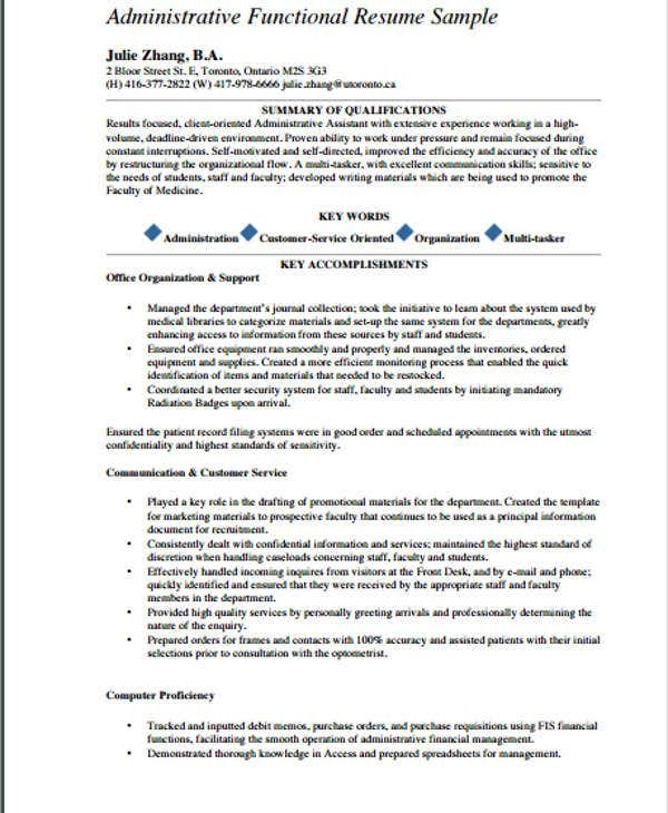administrative assistant work experience resume1