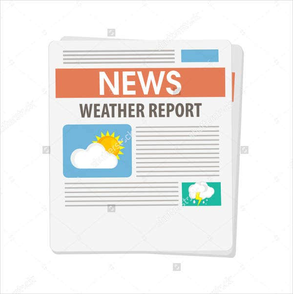 Newspaper Weather Report Template