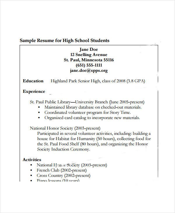 high school student work resume3