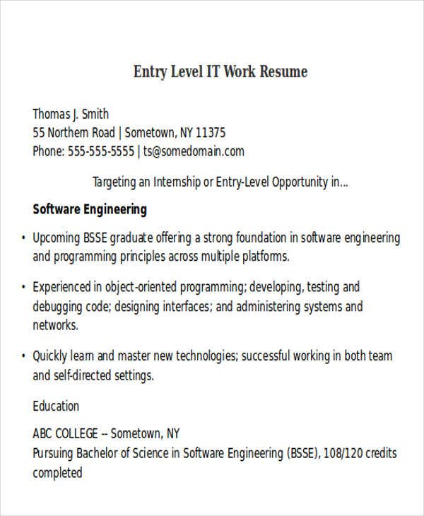 entry level it work resume2