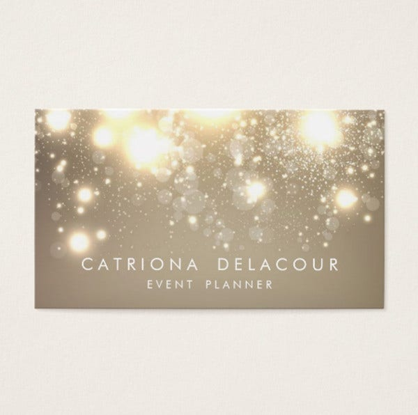 Diy Glitter Business Card