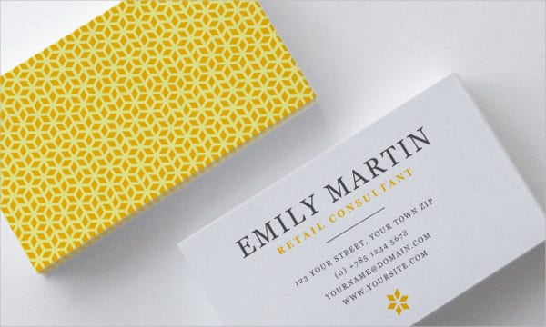 Diy Minimal Business Card