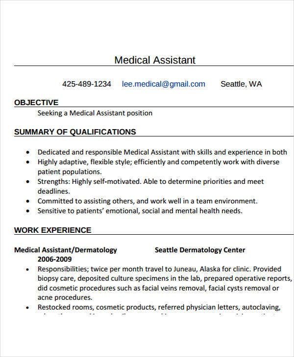 medical assistant work experience resume2